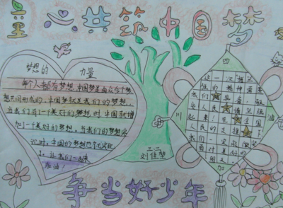 人人爱读书,共恐中国梦手抄报图片