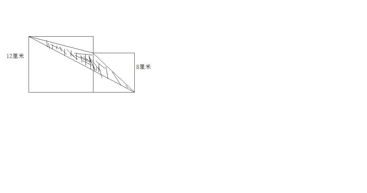 如下图,每个图形是由一个大正方形和一个小正方形拼成的,求出每个组合图片