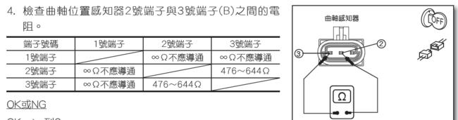 奇瑞qq6曲轴位置传感器2根线分别是什么线