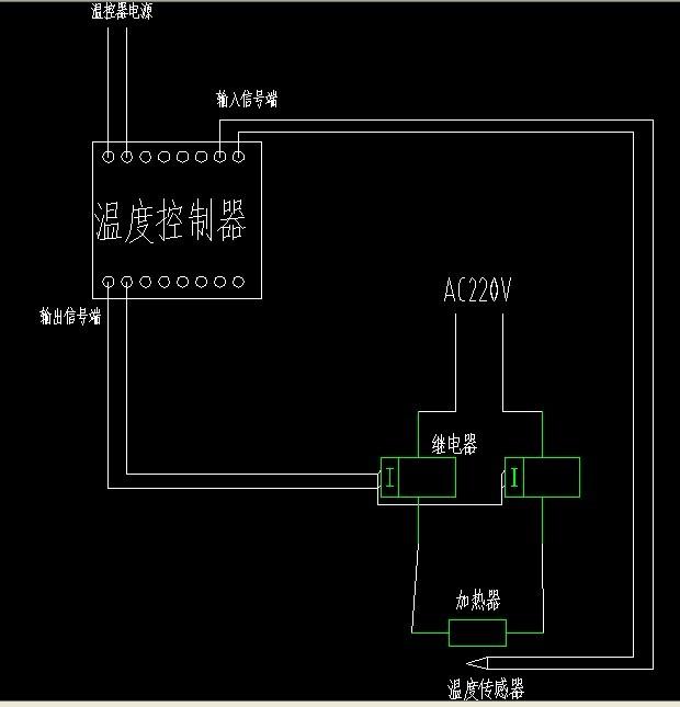 固态继电器如何控制加热系统 有电路图吗 和详细的说明吗