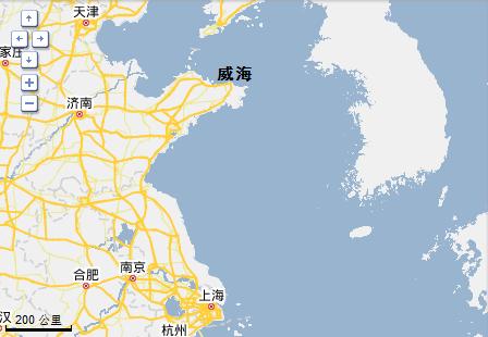 海滨城市在中国地图上是哪个位置( 方向)
