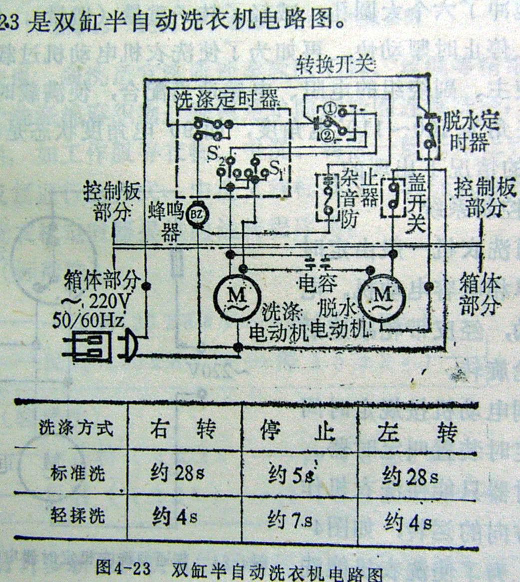 洗衣机启动电容怎么接线
