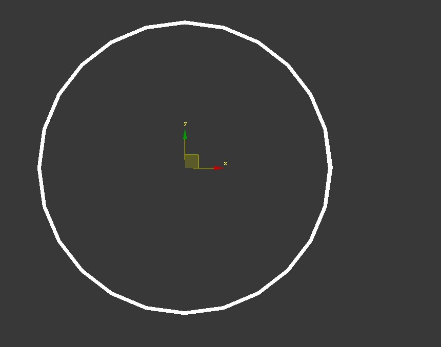 3dmax中怎样使圆形石膏线更圆