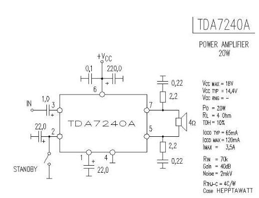 ta7240ap功放电路原理图20w