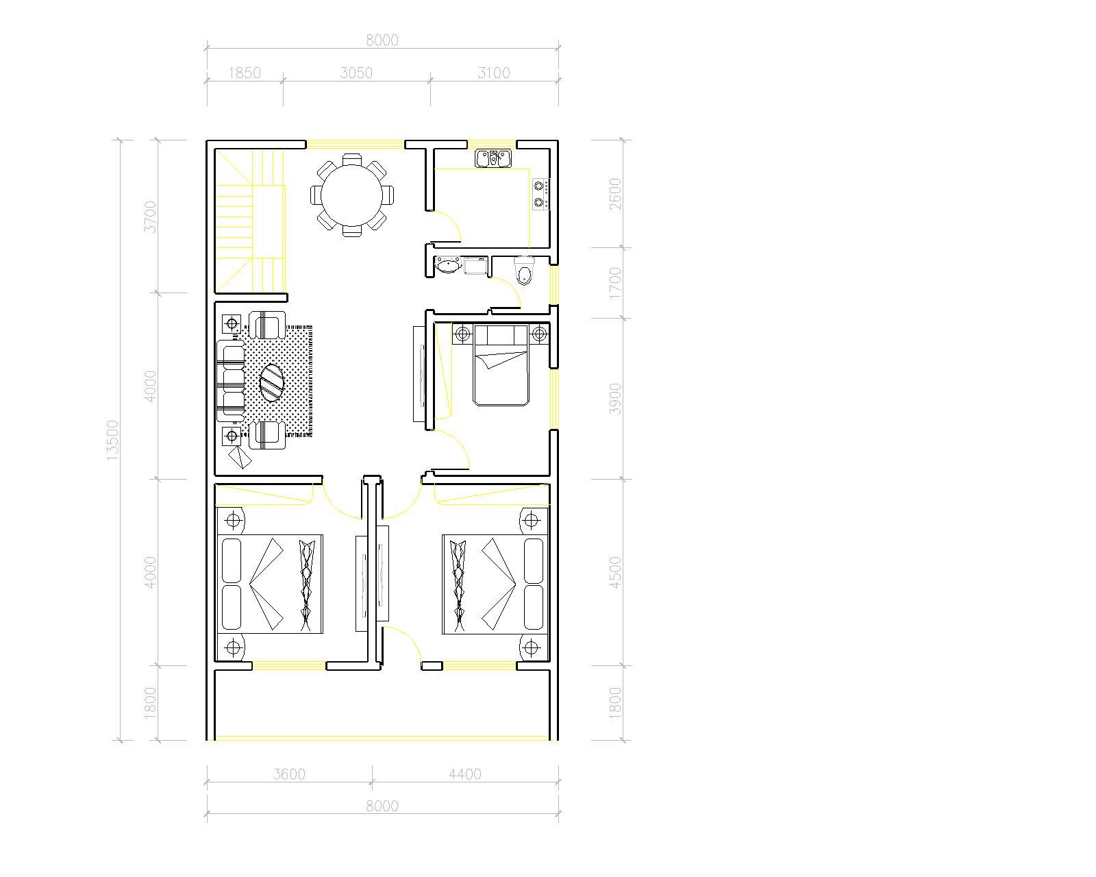 设采光井   追问  在房子中间吗     类似天井     我自己也设计了图片