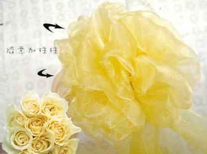 丝巾花球制作图解