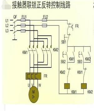 求单相电机正反转(带正反两个方向的限位)接线图.谢谢