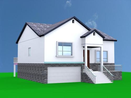 农村房屋设计图纸一层带楼梯平房