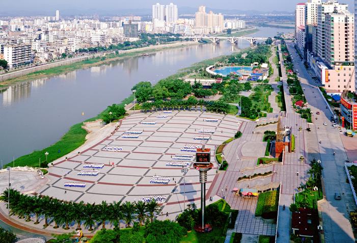 滨江公园的景区划分图片