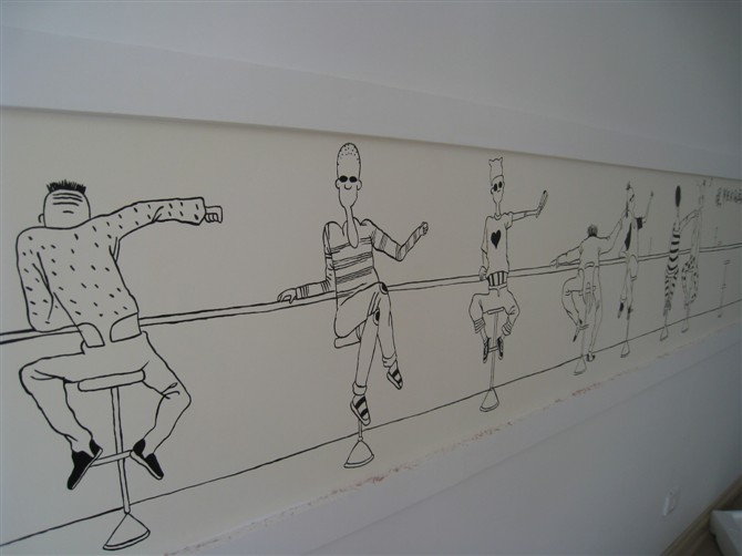 手绘墙画的历史