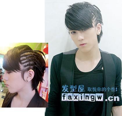 男生头发俩侧扎脏辫头发的长度要多长?图片
