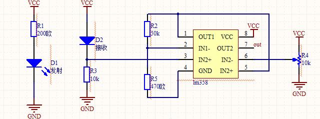 简单直流驱动发光二极管电路图