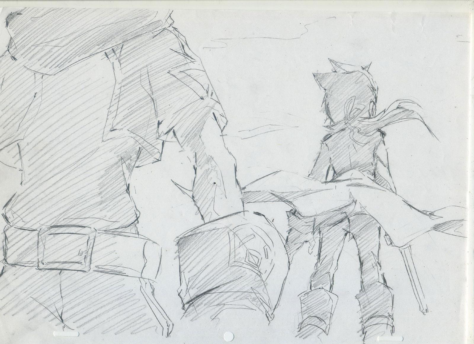 手绘铅笔漫画图片.