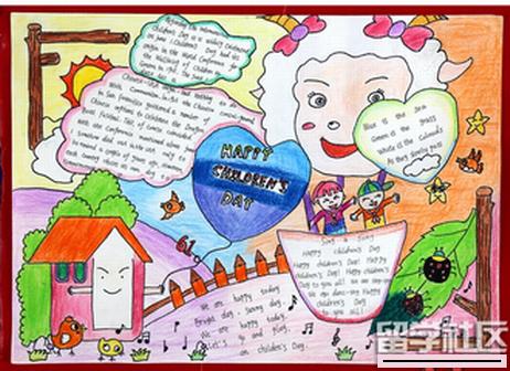 六一儿童节的英语小报