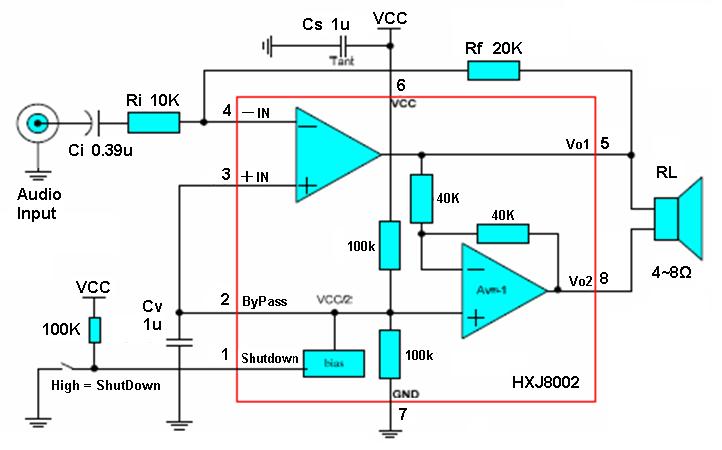 谁有8002的功放电路?