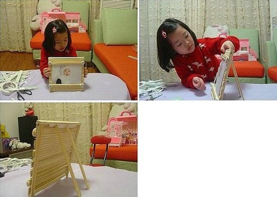 如何用一次性筷子做相框
