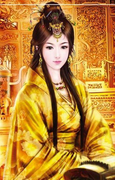 come on来几张手绘古代皇后 贵妃的图片 华丽丽的!
