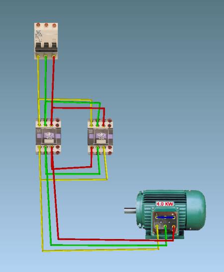 请问cjx22510接触器控制电机正反转接线图