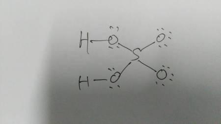 硫酸的路易斯结构式怎么写图片