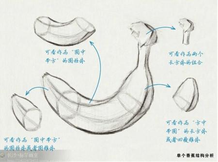 素描画香的结构蕉步骤要图文步骤
