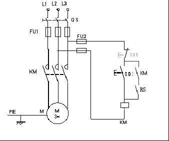 交流接触器实物接线图, 点动控制和长动控制,5个触头的接触器,希望是