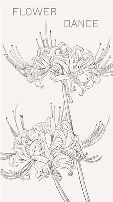 纯铅笔画出来的简笔曼珠沙华(漫画型)