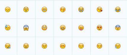 电脑版emoji表情包 要和qq符号表情一样大小 不带白框图片