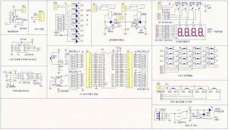 用at89s51单片机设计一个8位流水灯电路.