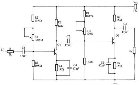 求两级阻容耦合放大电路(三极管9013),使最大不失真输出电压在5v左右
