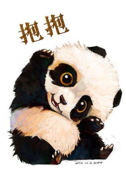 求萌萌的二次元熊猫图,要大图哟