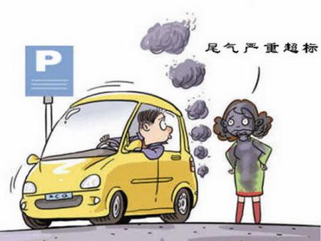 汽车尾气污染环境的图片