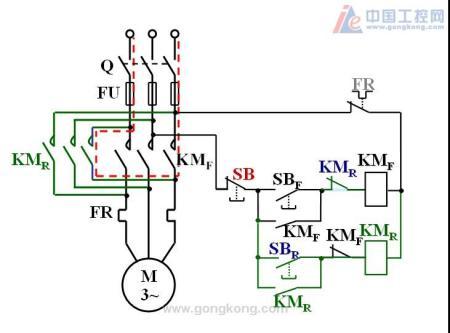 220v电机用接触器正反接线图着急
