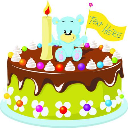 有没有卡通版的生日大蛋糕的图片