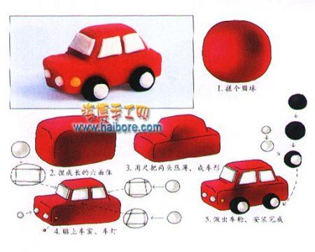 利用橡皮泥和吸管怎么做小汽车