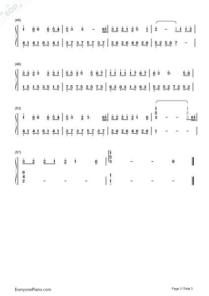 抖音纸短情长钢琴简谱是什么 纸短情长钢琴