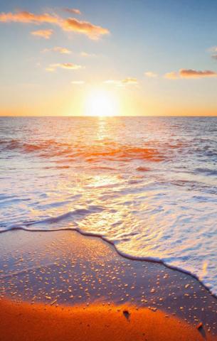 找大海 夕阳 星空 还有背景图