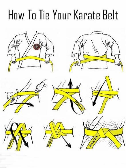 衣服带子一根系法图解