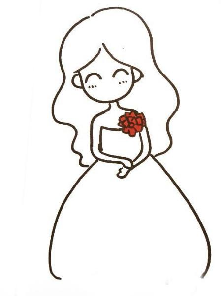 情侣手绘使用券简笔画