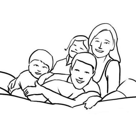 全家福简笔画越简单越好图片