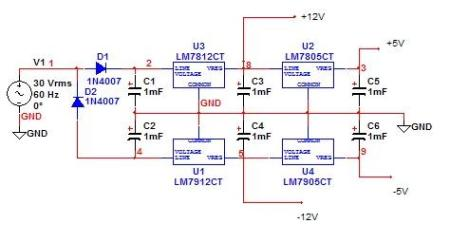 15w变压器220v转正负12v正负5v电源