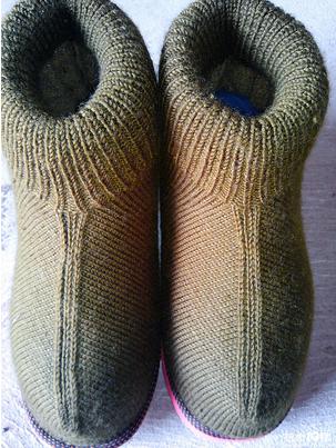 如何用毛线织鞋子