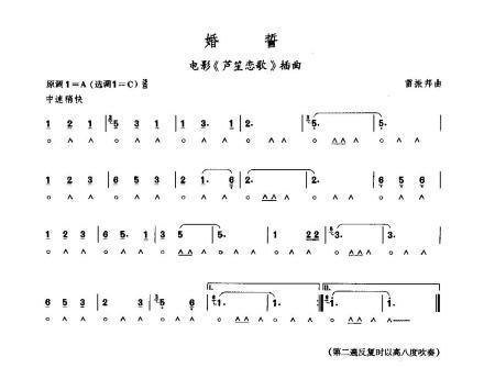 求24孔口琴歌曲简谱c调的图片