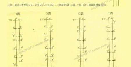 二胡一般指法表图片