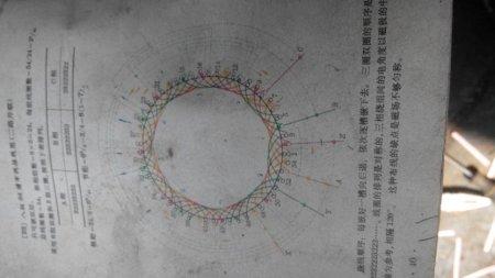 三相36槽4极单层链式交叉式电机接线图