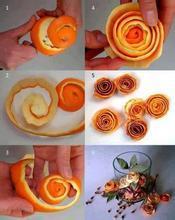 怎么用桔子皮做手工品图片