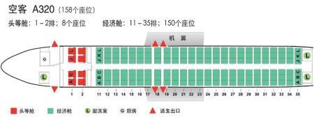 空客a320座位图如下图片