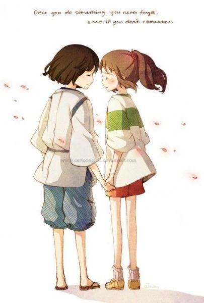 谁有情侣手牵手的图片,要动漫的!