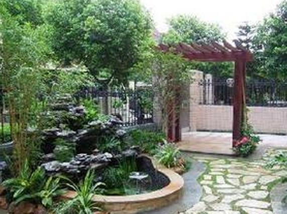 大门风水别墅的凉亭朝向最好小院小区别墅西安图片