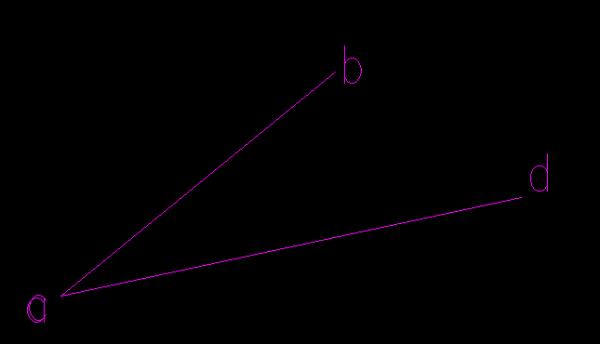 CAD中把一个水平斜线旋转到与一根矩形cad云线画图形,先图片