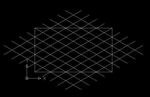 cad中图形v图形,在一个长方形中画瓷砖多个有什cad的哪里中在设置菱形图片